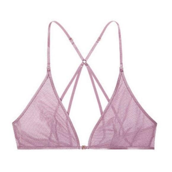 Victoria's Secret Other - Victorias Secret Mesh Front Closure Bralette Mauve